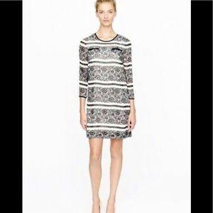 J. Crew lace print chiffon shift dress